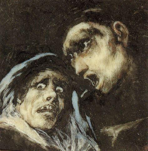 Francisco Goya   Monk Talking to an Old Woman