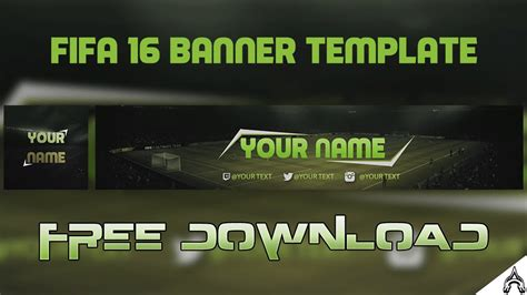 Free Fifa 16/17 Channel Art/Banner | Free YouTube Template ...