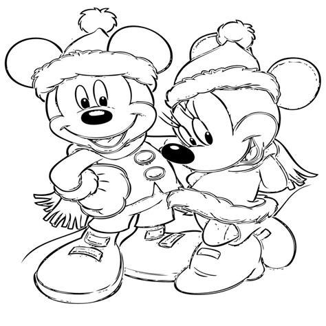 Fresco Dibujos Para Colorear Mickey Navidad
