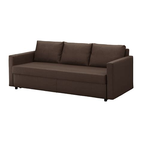 FRIHETEN Sofá cama 3 plazas   Skiftebo marrón   IKEA