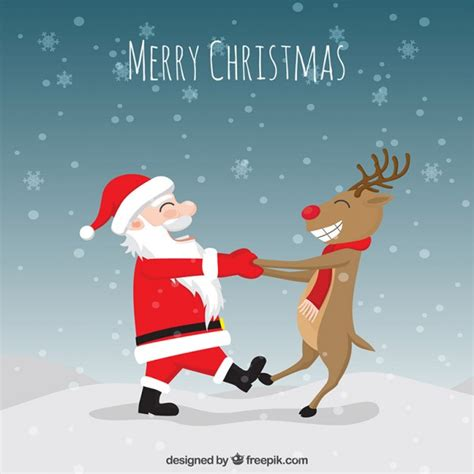 Funny christmas illustration Vector | Premium Download