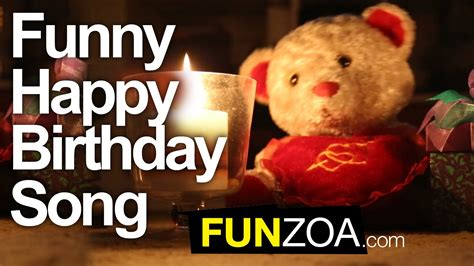 Funny Happy Birthday Song   Cute Teddy Sings Very Funny ...