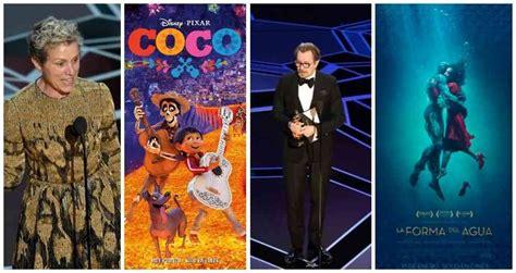 Ganadores de los premios Óscar 2018