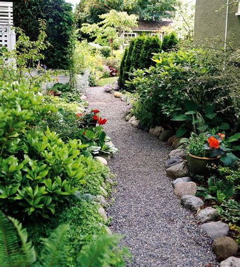 Garden Path Ideas: Gravel Walkways | Gardens, River rocks ...