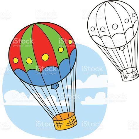Globo Aerostático Libro Para Colorear Página Ilustración ...