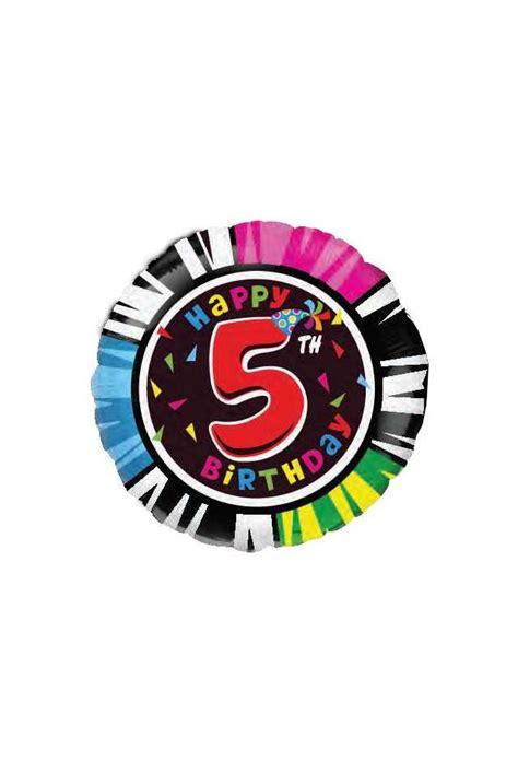 globo cumpleaños número 5