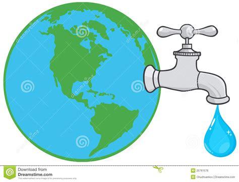 Globo Da Terra Com Faucet De água Imagem de Stock Royalty ...