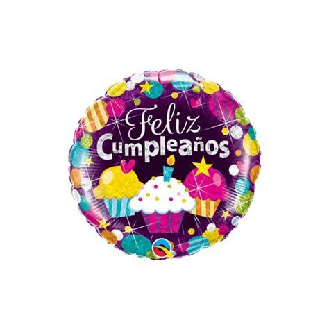 GLOBO DE HELIO FELIZ CUMPLEAÑOS HOLOGRAFIADO CUPCAKES ...