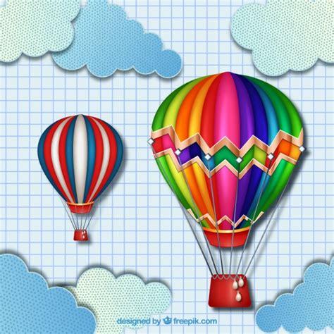 Globos aerostáticos coloridos | Descargar Vectores Premium