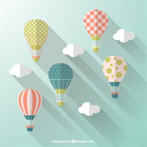 Globos aerostáticos en estilo de diseño plano | Descargar ...