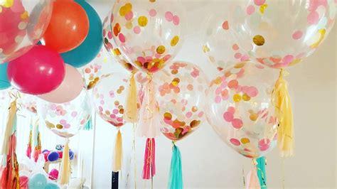 Globos de fiesta llenos de confeti   ideas decorativas ...