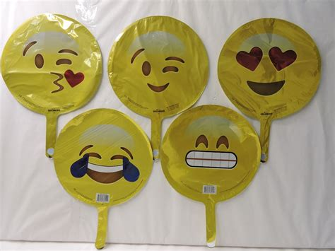 Globos Emojis Fiestas Decoracion 10 Metalicos 9 Pulgadas ...
