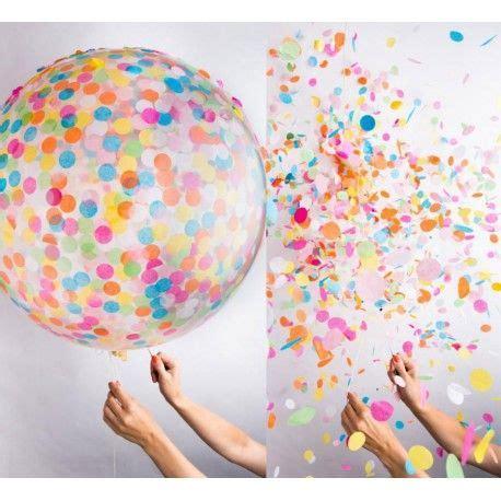 Globos Gigantes Transparentes + Confetti cuadrado $7.500 x ...
