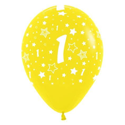 globos número 1 12  30cm en globos con números para cumpleaños