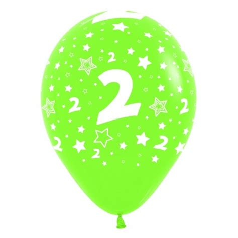 globos número 2 12  30cm en globos con números para cumpleaños