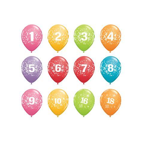Globos Qualatex Redondos Q11   Cumpleaños Edades 5 un ...