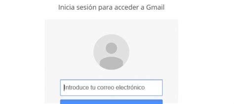 Gmail iniciar sesión
