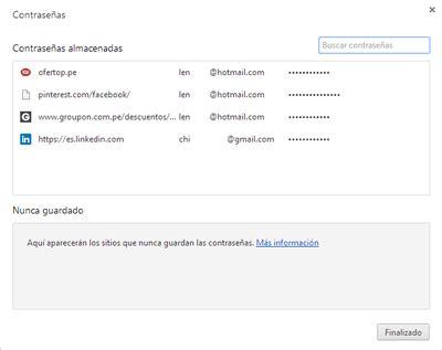 Google Chrome: Ver y administrar tus contraseñas guardadas