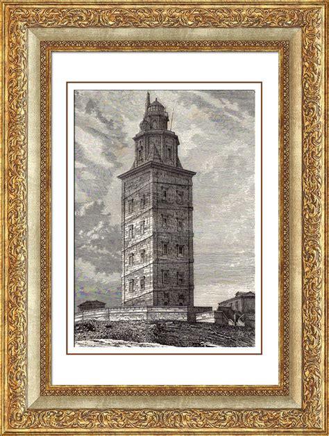 Grabados Antiguos | Faro   Torre de Hércules   La Coruña ...