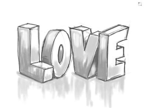 Graffiti Letters Love Using Pencil 3D Love Graffiti ...