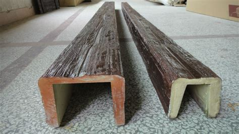 Guangzhou Polyurethane decorative Faux Wood Beams U shape ...