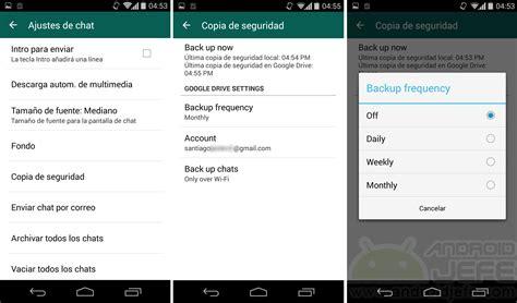 Guardar Conversaciones WhatsApp en Drive • Android Jefe