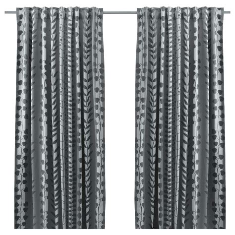 GUNNI Block out curtains, 1 pair Grey 145x300 cm   IKEA