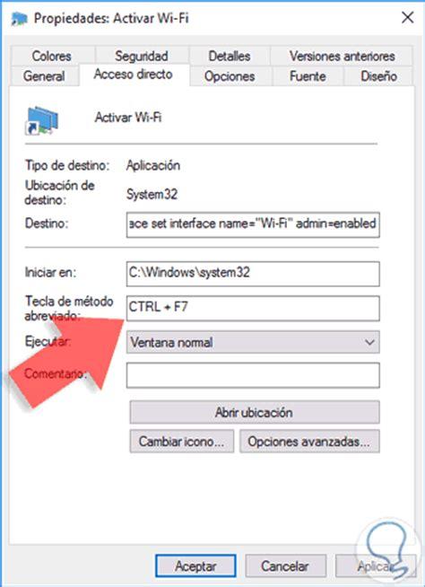 Habilitar o deshabilitar WiFi con acceso directo Windows ...