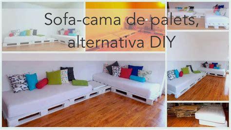 Hacer un sofa cama con palets, barato y sencillo