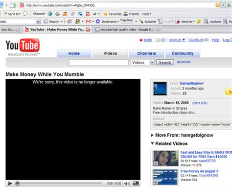 "Hacker zone: Solution to youtube's ""This video is no ..."