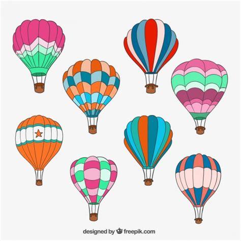 Hand drawn hot air balloons Vector | Free Download
