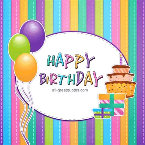 Happy Birthday Animated Gif Facebook Cards | Birthday ...