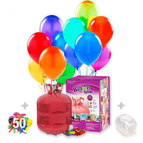 Helio para globos: Bombona Desechable grande + 50 globos ...