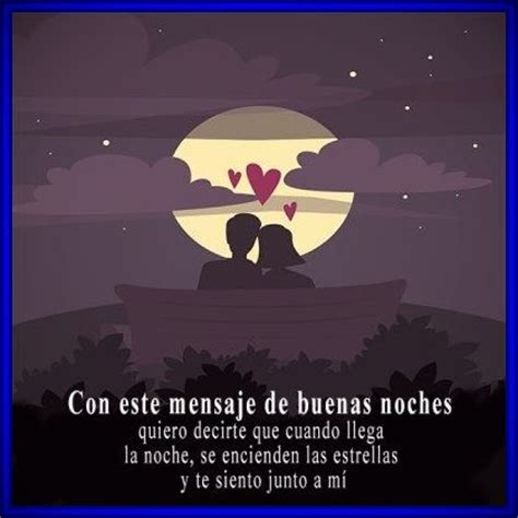 Hermosas palabras de buenas noches para un amor | Buenas ...