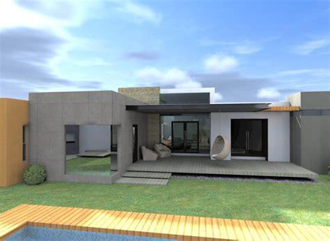 Hermoso Hogar Con Terrazas   Modelos De Casas De Un Piso