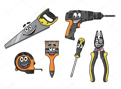 herramientas de bricolaje dibujos animados personajes ...