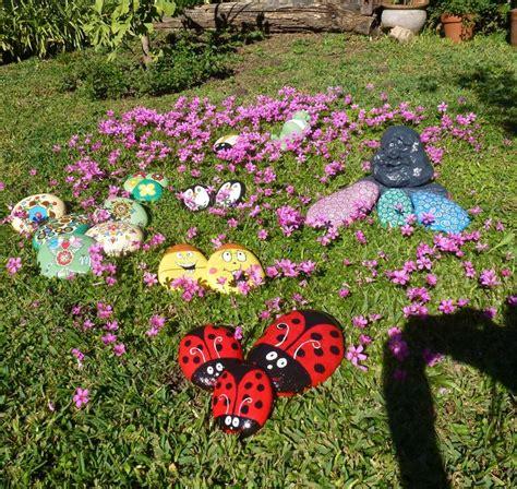 HOGAR Y JARDIN: Pintar piedras para decorar el jardín
