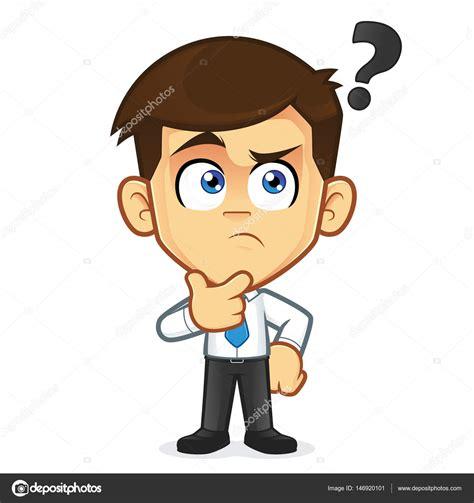 Hombre de negocios pensando en gesticular — Archivo ...