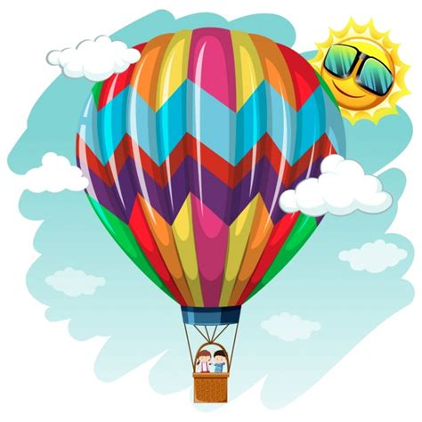 Hot air balloon background design Vector | Free Download