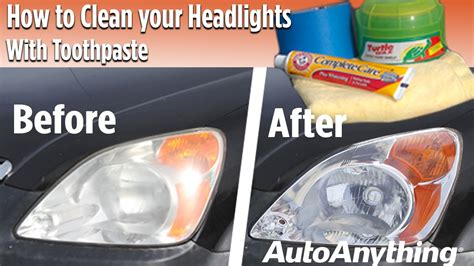 How to Clean Your Headlights With Toothpaste   YouTube