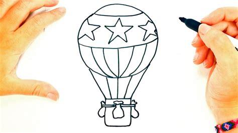 How to draw a Hot Air Balloon | Hot Air Balloon Easy Draw ...
