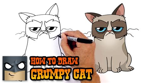 How to Draw Grumpy Cat | Drawing Lesson   YouTube