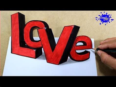 How to draw love 3D letters /Como dibujar love 3D/como ...