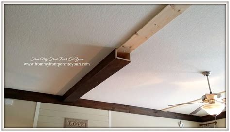 How We Made Our DIY Wood Beams | Stains, On the side and ...