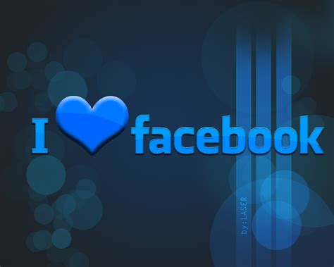 I love FACEBOOK Wallpaper by LASERR00 on DeviantArt