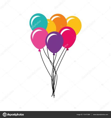 icono de fiesta de aire globo — Vector de stock ...