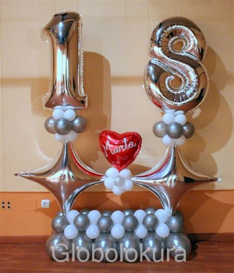 ideas para decorar con globos un cumpleanos numero 18 ...
