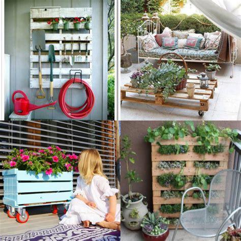 Ideas para decorar jardines con imágenes de palets ...