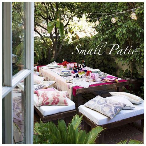 Ideas para decorar pequeños patios y terrazas