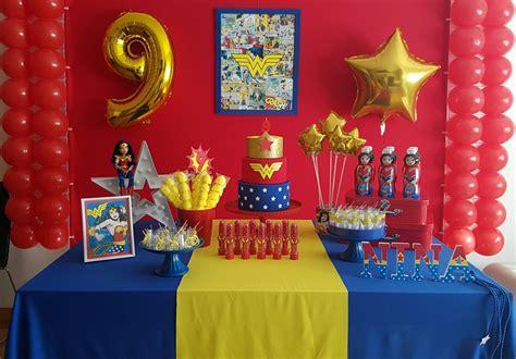 Ideas para decorar una Fiesta Infantil Mujer maravilla